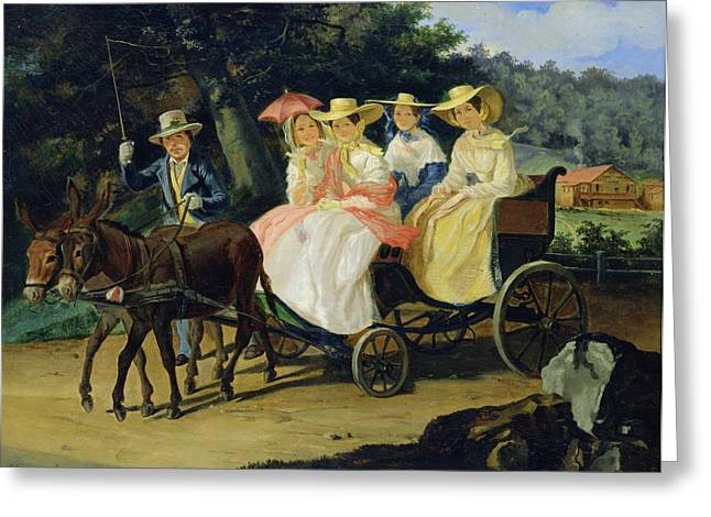 Out For A Spin Greeting Cards - A Run Greeting Card by Aleksandr Pavlovich Bryullov