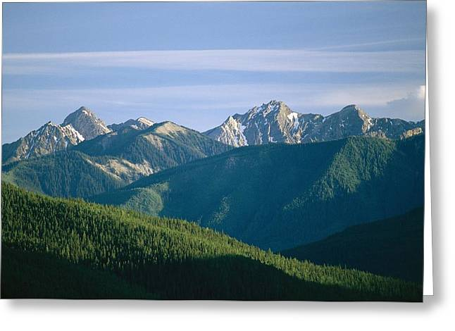Park Scene Greeting Cards - A Scenic View Of The Rocky Mountains Greeting Card by Michael Melford