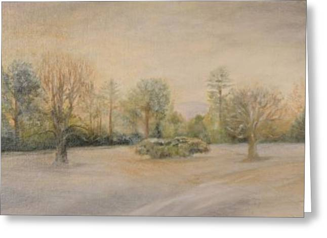 Snow Scene Landscape Greeting Cards - A Snowy Morn at Dalhebity Greeting Card by Douglas Ann Slusher