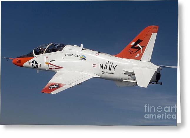 Test Greeting Cards - A T-45c Goshawk Training Aircraft Greeting Card by Stocktrek Images
