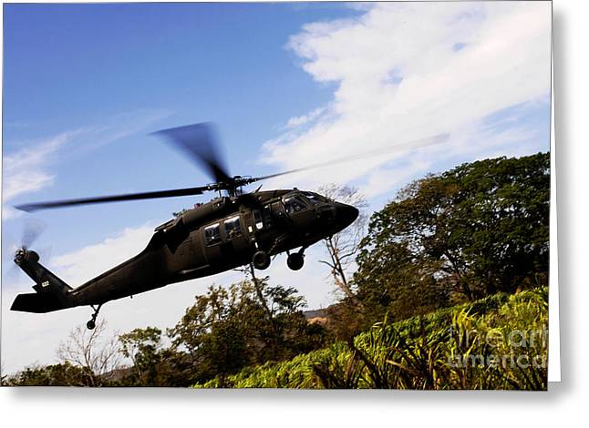 Utility Aircraft Greeting Cards - A U.s. Army Uh-60 Black Hawk Helicopter Greeting Card by Stocktrek Images