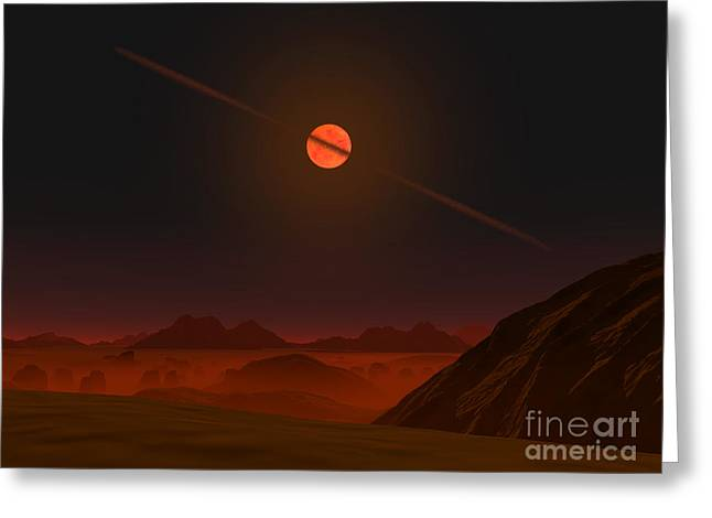 Disk Greeting Cards - A View Across A Hypothetical Primitive Greeting Card by Walter Myers