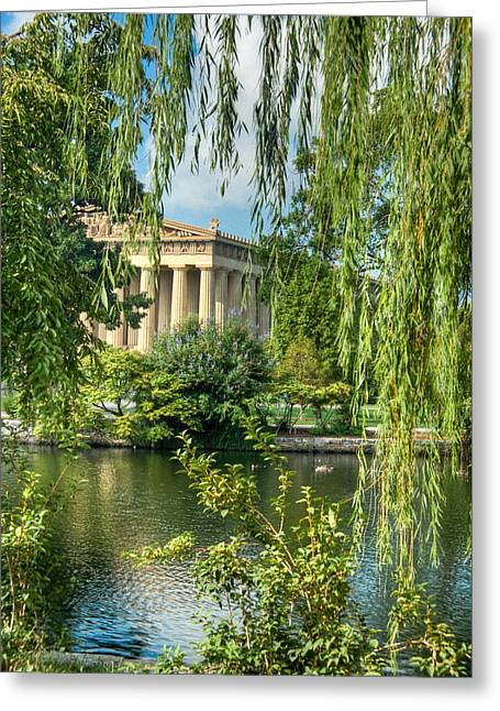 Nashville Tennessee Greeting Cards - A View of the Parthenon 8 Greeting Card by Douglas Barnett