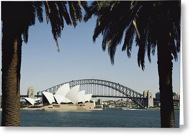 Darling Harbour Greeting Cards - A View Of The Sydney Opera House Greeting Card by Bill Ellzey