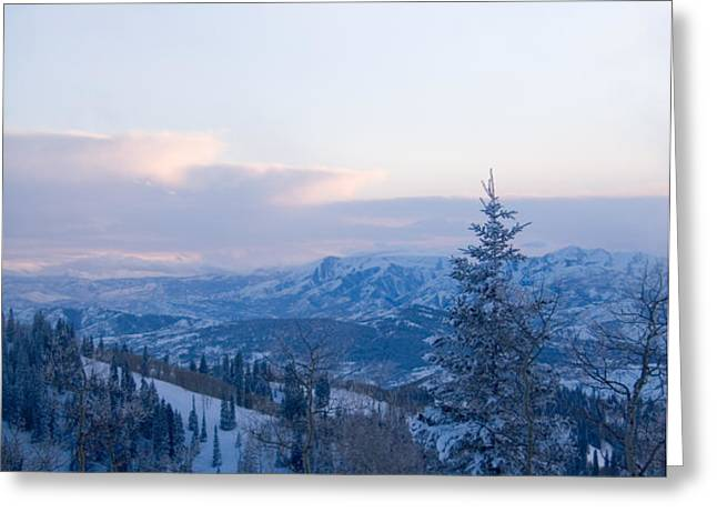 A View Out Over The Mountains Of Utah Greeting Card by Taylor S. Kennedy