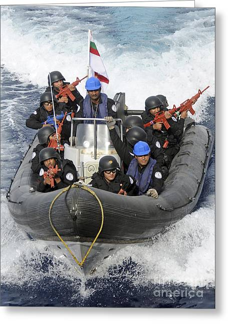 A Visit, Board, Search And Seizure Team Greeting Card by Stocktrek Images