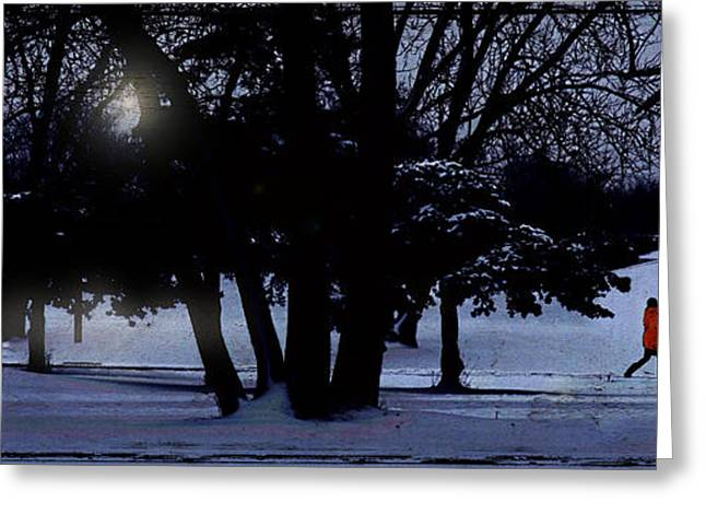 A Walk In The Snow Greeting Card by Jim Wright
