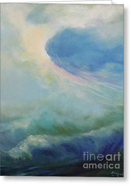 Undertow Paintings Greeting Cards - A Way Out Greeting Card by Michele Hollister - for Nancy Asbell