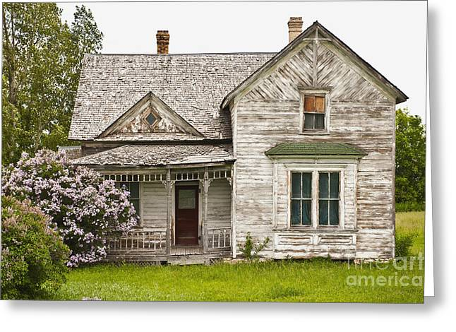 Residential Structure Greeting Cards - Abandoned Country Home Greeting Card by Dave & Les Jacobs