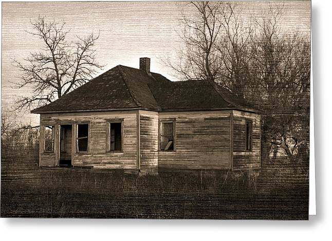 Farm Structure Greeting Cards - Abandoned Farm House Greeting Card by Richard Wear