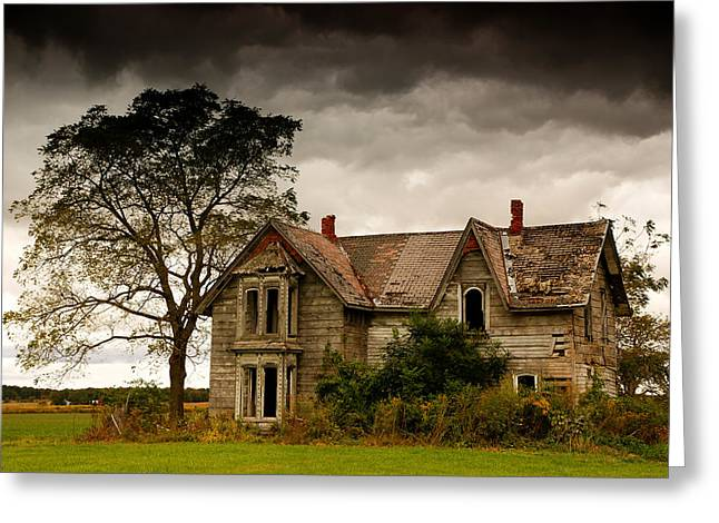 Farm House Greeting Cards - Abandoned House Greeting Card by Cale Best
