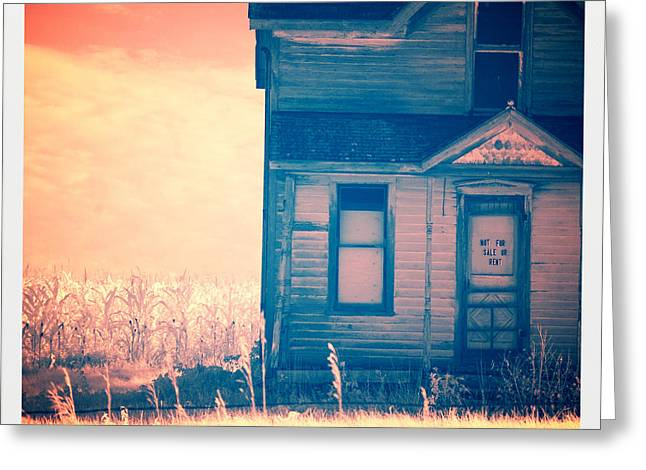Entrance Door Greeting Cards - Abandoned House Greeting Card by Jill Battaglia