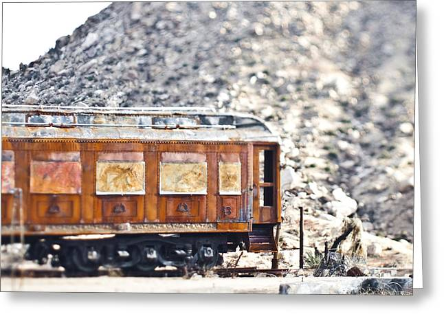Old Caboose Greeting Cards - Abandoned Train Car Greeting Card by Eddy Joaquim