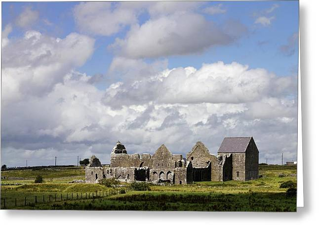 Abbeyknockmoy, Cistercian Abbey Of Greeting Card by The Irish Image Collection
