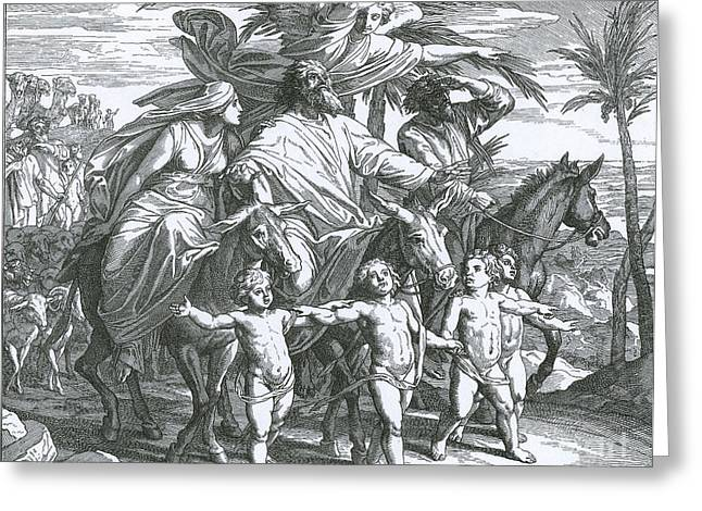 1518 Greeting Cards - Abraham Sees The Promised Land Greeting Card by Photo Researchers