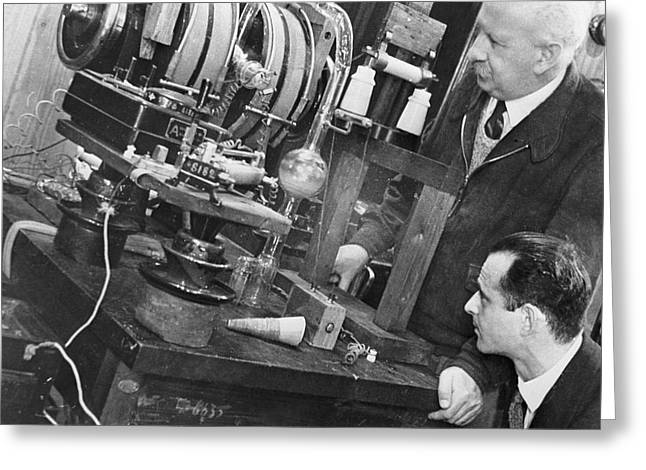 Technical Photographs Greeting Cards - Abram Jaffe, Soviet Physicist Greeting Card by Ria Novosti