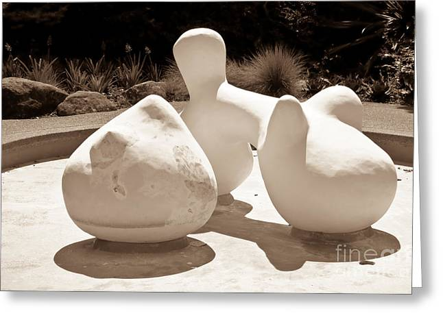 Bright Sculptures Greeting Cards - Abstract American Art Greeting Card by Yurix Sardinelly