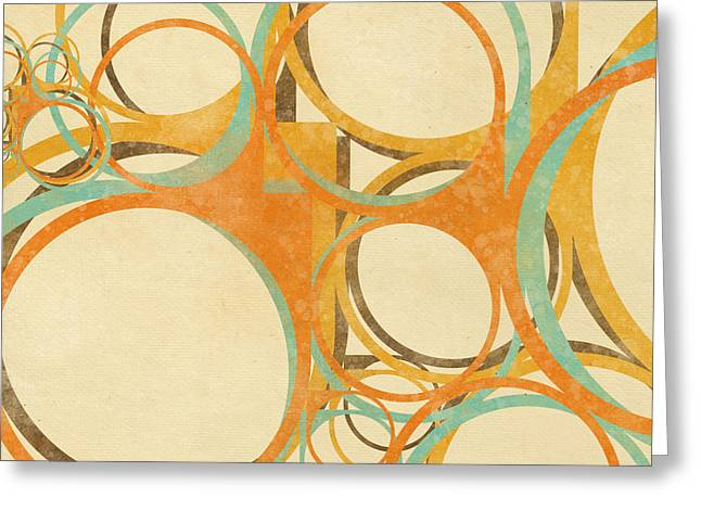 Blank Greeting Cards Greeting Cards - Abstract Circle Greeting Card by Setsiri Silapasuwanchai