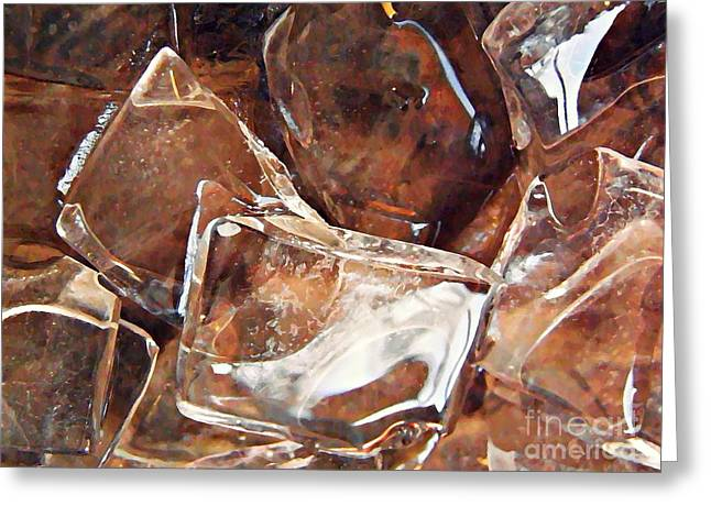 Raw Photography Greeting Cards - Abstract Ice 21 Greeting Card by Sarah Loft
