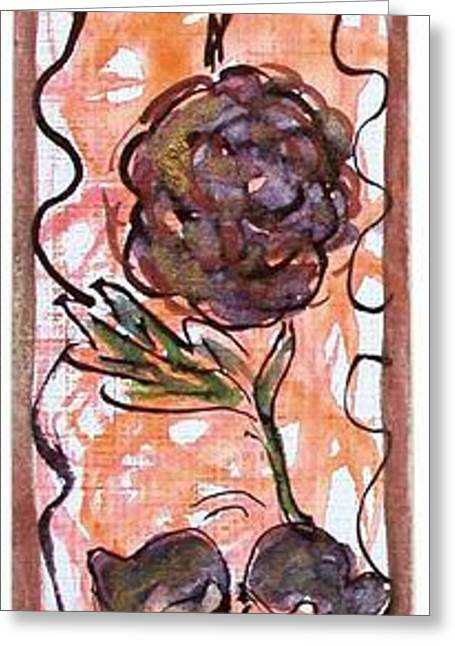 Tn Greeting Cards - Abstract That Came To Mind Greeting Card by Margaret Ann Johnson Wilmot