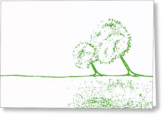 Abstract Digital Paintings Greeting Cards - Abstract Tree Art by Shawna Erback Greeting Card by Shawna Erback