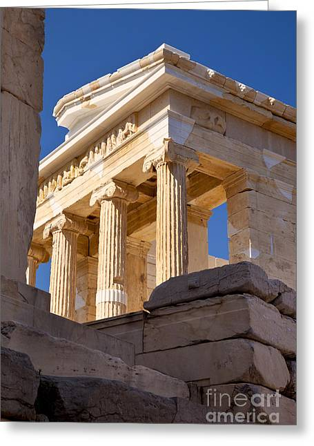 Apteros Greeting Cards - Acropolis Temple Greeting Card by Brian Jannsen
