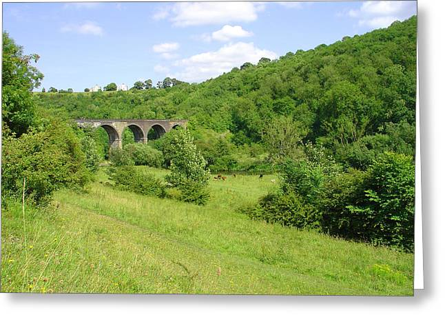 Derbyshire Greeting Cards - Across the Dale to Monsal Viaduct Greeting Card by Rod Johnson