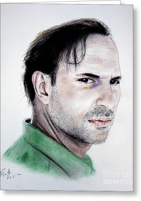 Ncis Greeting Cards - Actor Oscar Torre Greeting Card by Jim Fitzpatrick