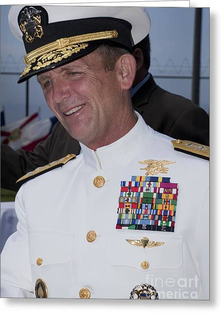 -wars And Warfare- Greeting Cards - Admiral Eric T. Olson Speaks Greeting Card by Michael Wood