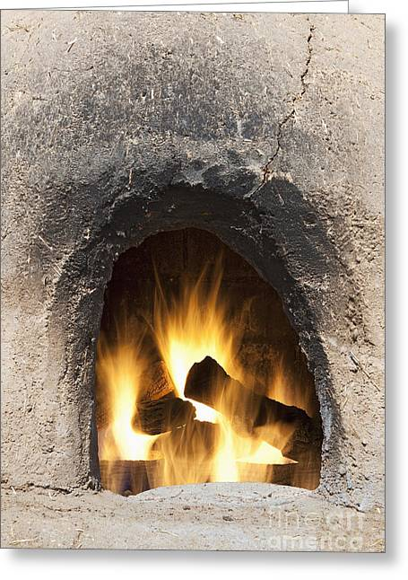 Taos Greeting Cards - Adobe Oven Greeting Card by Bryan Mullennix