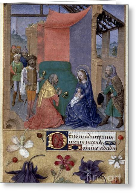 Children Literature Greeting Cards - Adoration Of Magi Greeting Card by Granger