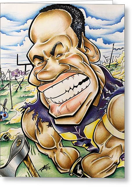 Adrian Peterson Greeting Cards - Adrian Peterson Greeting Card by Big Mike Roate