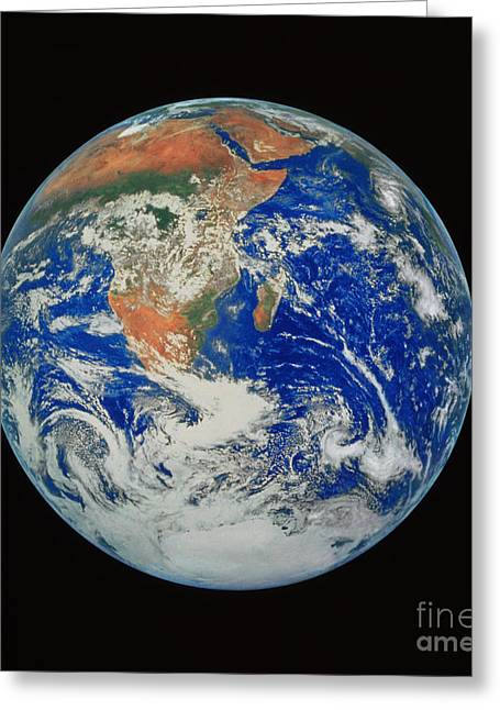 Planet Earth Greeting Cards - Africa Greeting Card by NASA / Science Source