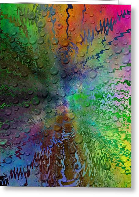 Abstract Rain Digital Greeting Cards - After The Rain 2 Greeting Card by Tim Allen