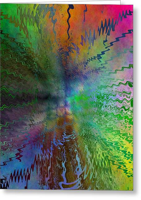 Abstract Rain Digital Greeting Cards - After The Rain  Greeting Card by Tim Allen