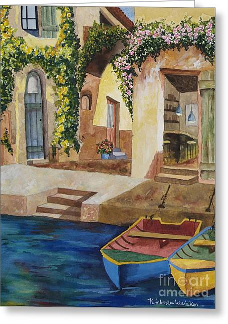 Piazzo Greeting Cards - Afternoon at the Piazzo Greeting Card by Kimberlee Weisker