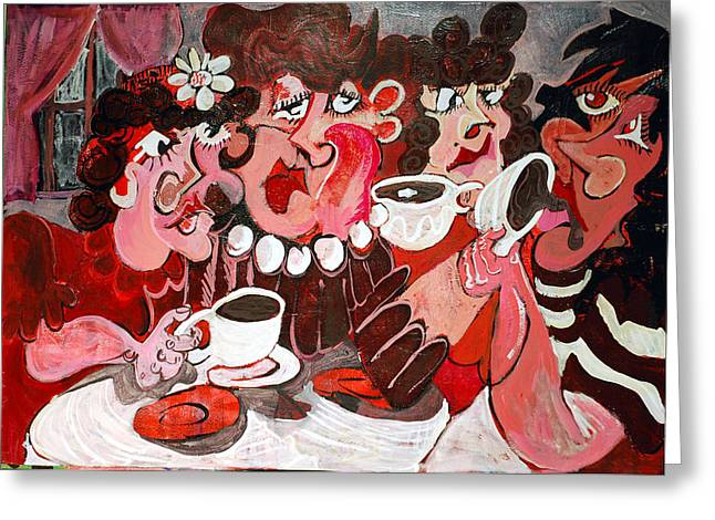 Jame Hayes Paintings Greeting Cards - Afternoon Tea Greeting Card by Jame Hayes