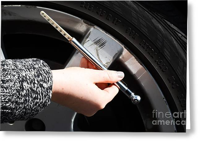 Air Pressure Gauge Greeting Card by Photo Researchers