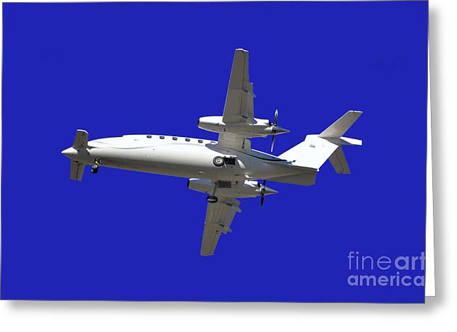 Passenger Airplanes Greeting Cards - Airplane Greeting Card by Mats Silvan