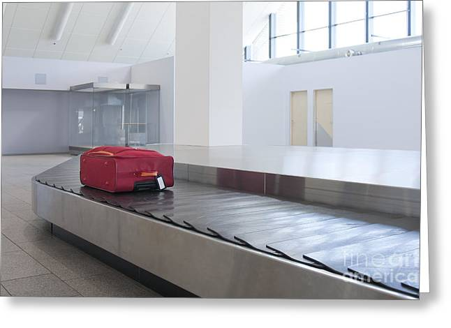 Tallinn Airport Greeting Cards - Airport Baggage Claim Greeting Card by Jaak Nilson