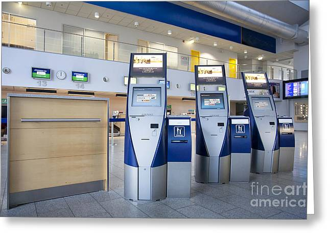 Airport Check In Terminals Greeting Card by Jaak Nilson