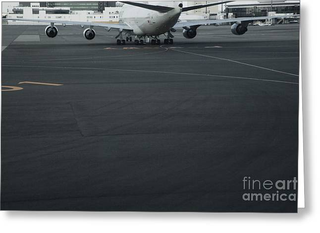 Traffic Control Greeting Cards - Airport Tarmac Greeting Card by Shannon Fagan