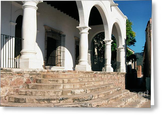 Store Front Greeting Cards - Alamos Mexico Greeting Card by Thomas R Fletcher