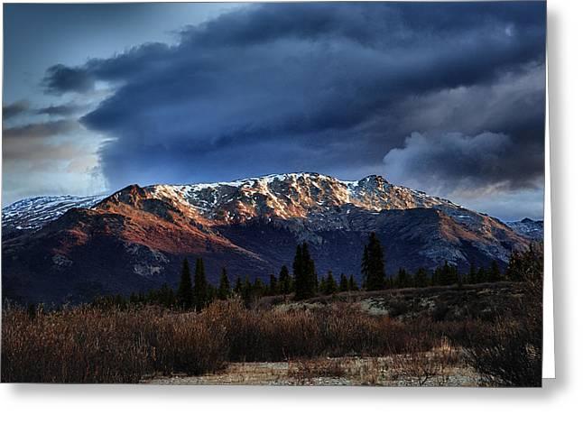 Backcountry Greeting Cards - Alaskan Morning Greeting Card by Rick Berk