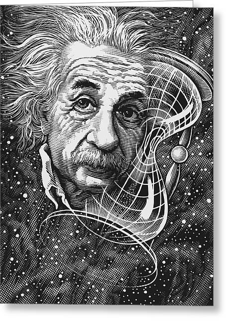 Time And Space Greeting Cards - Albert Einstein, German Physicist Greeting Card by Bill Sanderson