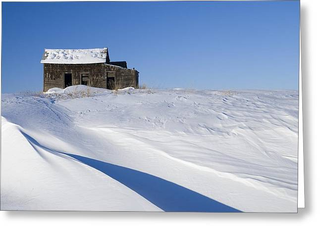 Alberta, Canada Abandoned Farm Building Greeting Card by Philippe Widling