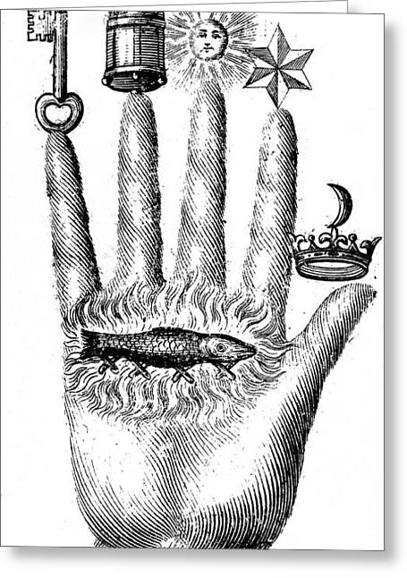 Seventeenth-century Greeting Cards - Alchemical Symbols Greeting Card by Science Source
