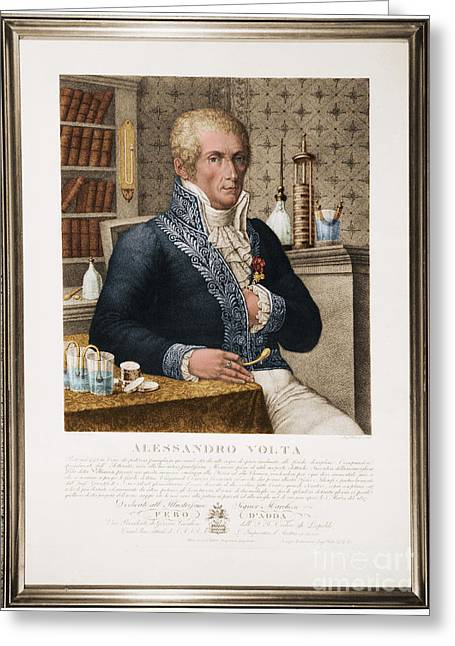 Men Of Honor Photographs Greeting Cards - Alessandro Volta, Italian Physicist Greeting Card by Omikron