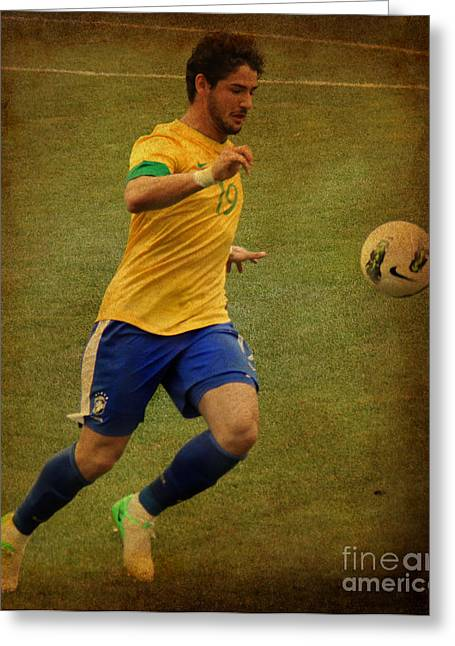 Liga Greeting Cards - Alexandre Pato II Greeting Card by Lee Dos Santos