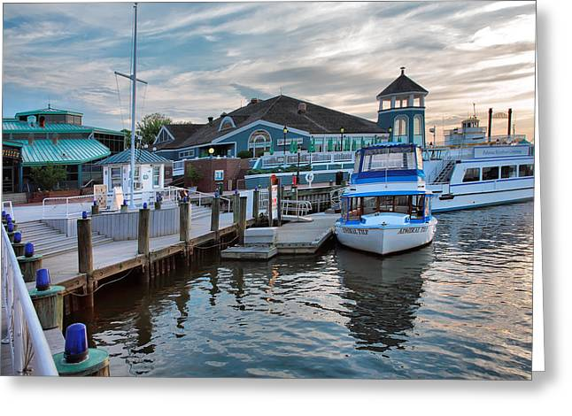 Docked Boats Greeting Cards - Alexandria Waterfront I Greeting Card by Steven Ainsworth